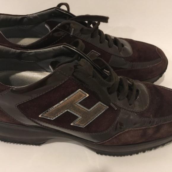 Hogan Interactive Sneaker Brown Suede/Patent H
